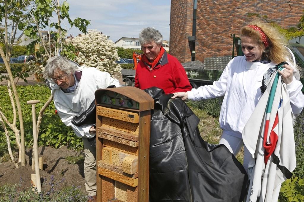 Onthulling van het insectenhotel. Foto: BELCombinatie © Enter Media