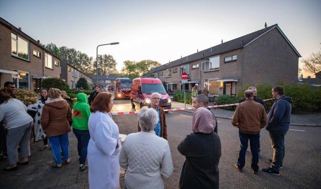Voor omwonenden was de brand op eerste paasdag het gesprek van de dag.