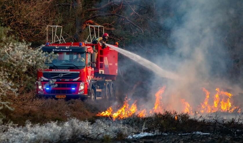 De brand van april op de Laapersheide.