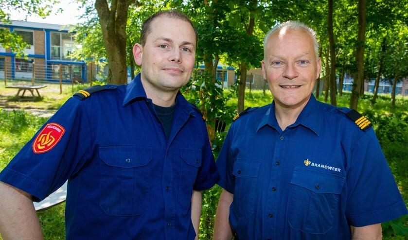 Joost Schaapherder (links) en Hans Schotsman worden de wijkbrandweermensen in Huizen.