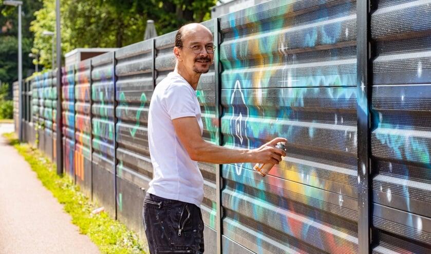 Over twee weken hoopt Eric van der Vegt zijn straatkunstwerk af te hebben.