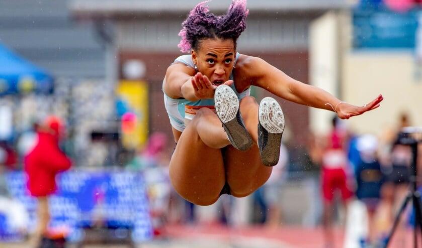 Chanté Samuel kwam met 5,65 meter niet verder dan een vijfde plaats bij het verspringen.