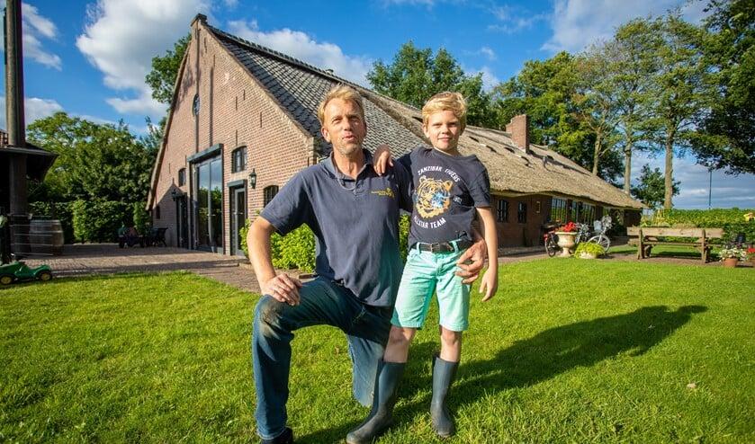 Dappere Stijn met zijn vader Jan Peter.