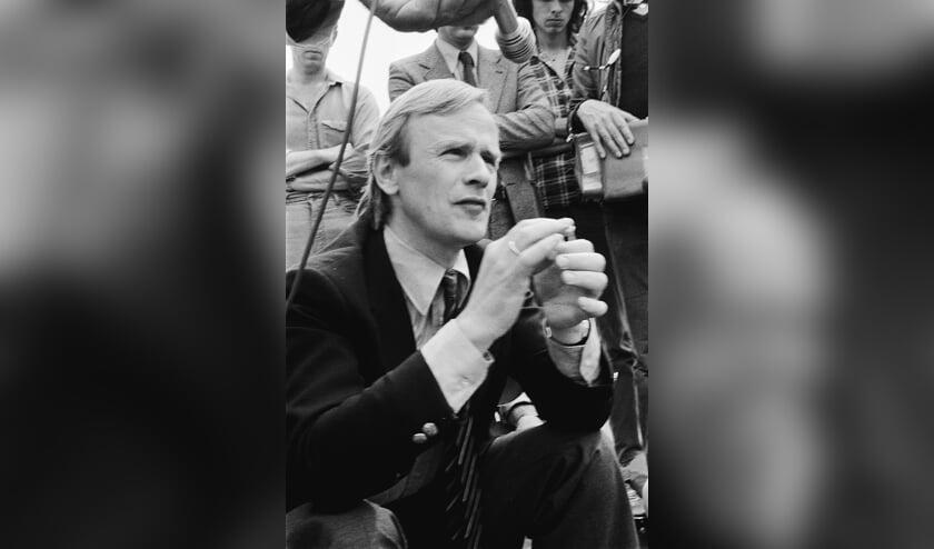 Jack Patijn tijdens de blokkade van Dodewaard op 27 mei 1980.