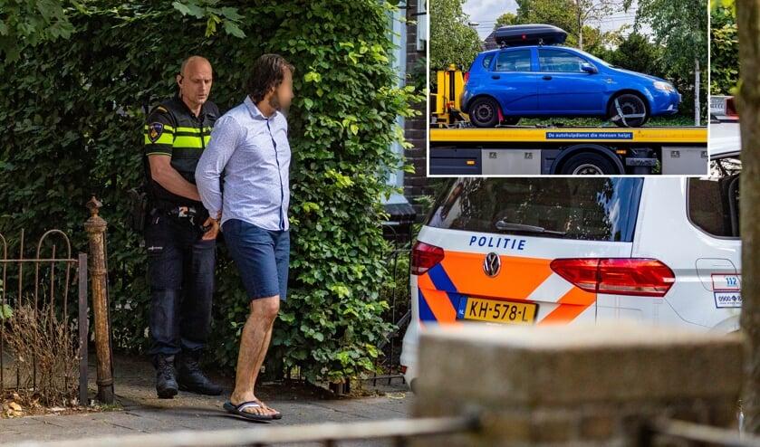 De man werd woensdagmorgen in Hilversum aangehouden.
