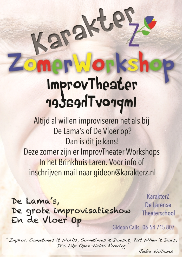 Poster theaterZomerWorkshop