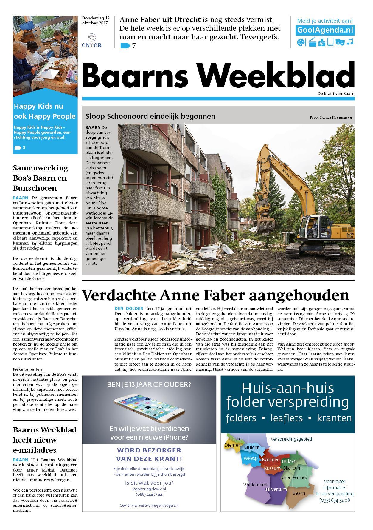 87838cc8031 Baarns Weekblad 12 oktober 2017