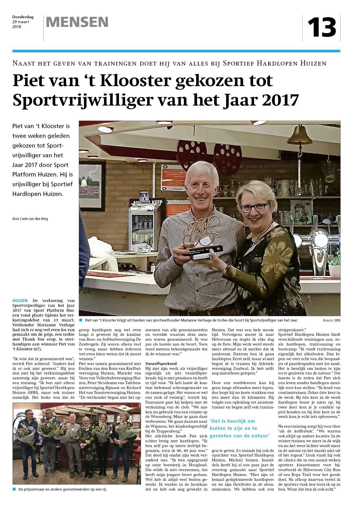 Nieuwsblad voor Huizen 29 maart 2018