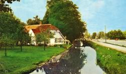 De Utrechtseweg (301) in 1966. De grond waarop de grote langhuisboerderij Oost-Indiën is gebouwd behoorde toe aan het Vrouwenklooster. J. Spinhoven heeft tot 1997 als laatste boer de boerderij met grond gepacht. Daarna heeft de grond bij de boerderij een natuurbestemming gekregen.(uit de verzameling van Rienk Miedema)