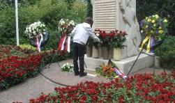 In 2010 werden 65 rode en 1 witte roos bij het vernieuwde monument geplaatst.