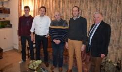 v.l.n.r. Albert Loedeman, Wijnand Kok, Rijk van Vorst, Chris van Hasselt en Jur Rijksen maken deel uit van het 100-koppige koor Con Forza.