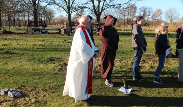 Masterclassdocent Gert Landman speelt in de film de rol van Bisschop Godebald. [foto Henk van de Bunt]