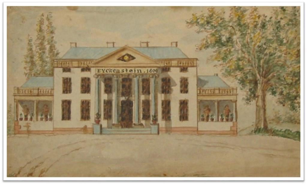 Het in 1809 gebouwde nieuwe Eyckenstein.  © De Vierklank