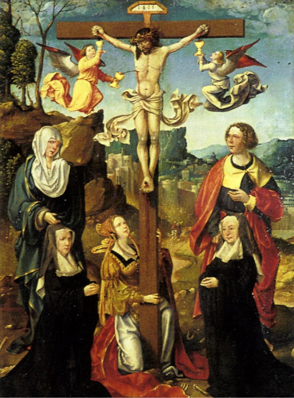 We beschikken over schilderijen van nonnen van het klooster in de zestiende eeuw: hier de nonnen Hadewijch van Hardenbroek en Agnes van Ghent op een anoniem schilderij uit 1543 (Museum Catharijneconvent).
