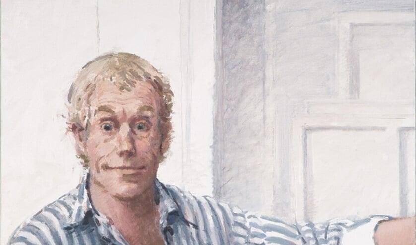 Een zelfportret van Dick Stapel.