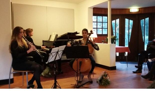 Liefdesdans tussen klarinet, cello en piano in Huize Gaudeamus.
