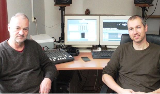Erik Jan Trip (l) en Richard Breedveld brengen Helden in beeld.
