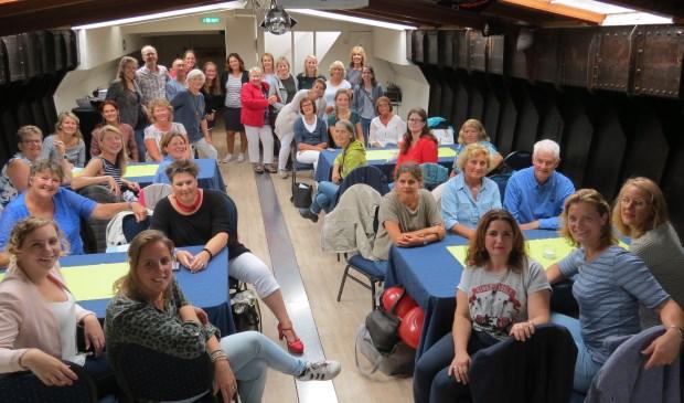 Het team van de Julianaschool op de Inspiratieboot in Amersfoort.