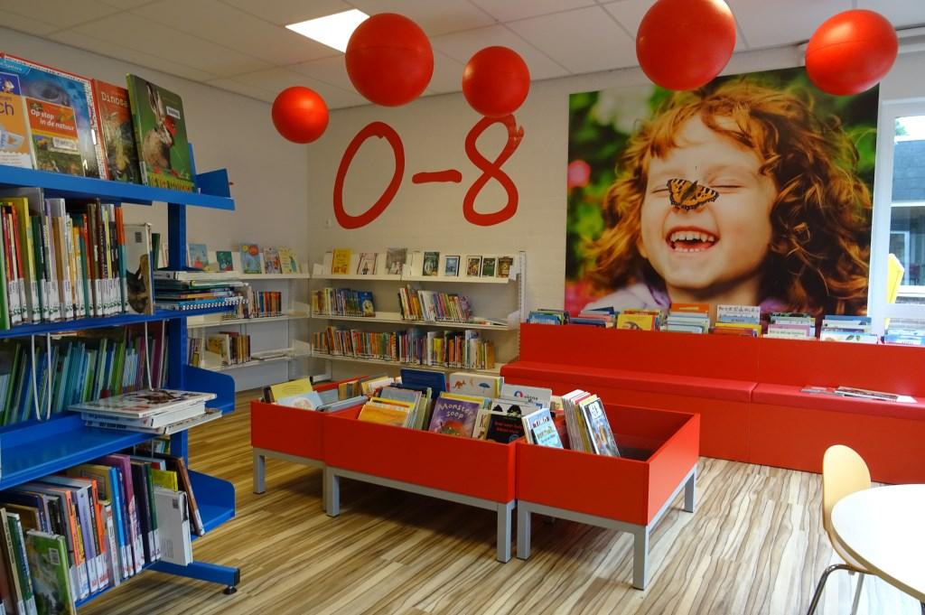 Het aanbod aan jeugdboeken voor de jongste jeugd is ondergebracht in de fleurige jeugdhoek voor kinderen van 0 tot 8 jaar.