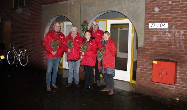 Het wijkteam van de PvdA op bezoek bij Anne Franklaan in Bilthoven.