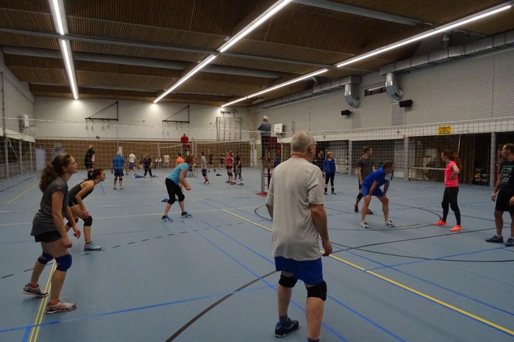 Gedurende de avonduren speelden leden en oud leden van Salvo met volle inzet en veel enthousiasme hun wedstrijden.     © De Vierklank