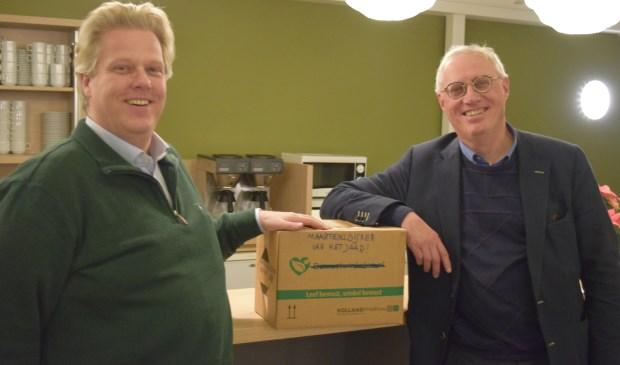 Gert-Jan Weierink (l) en Henric de Jong Schouwen(r) hopen op vele stemmen.