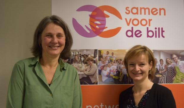 Joanne Penning (l) en Judith Boezewinkel (r) hopen dat nog meer bedrijven en maatschappelijke organisaties partner worden van Samen voor De Bilt.