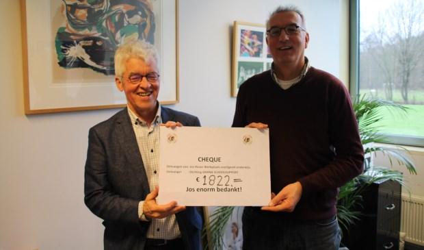 Jos Heuer neemt afscheid van De Werkplaats met een maatschappelijk cadeau.