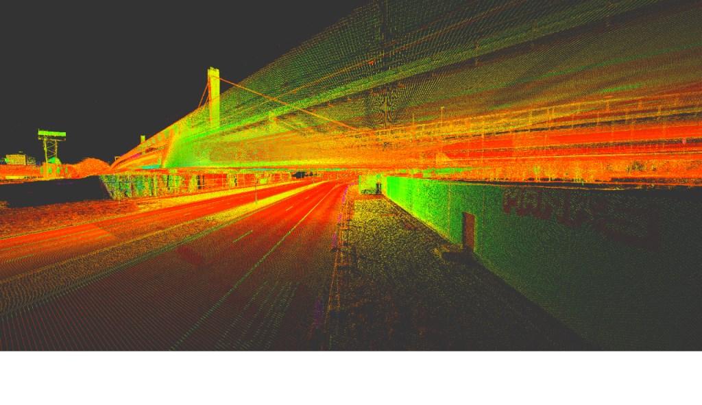 Middels een laserscan wordt een zogenaamde 3D-puntenwolk gemaakt.  © De Vierklank