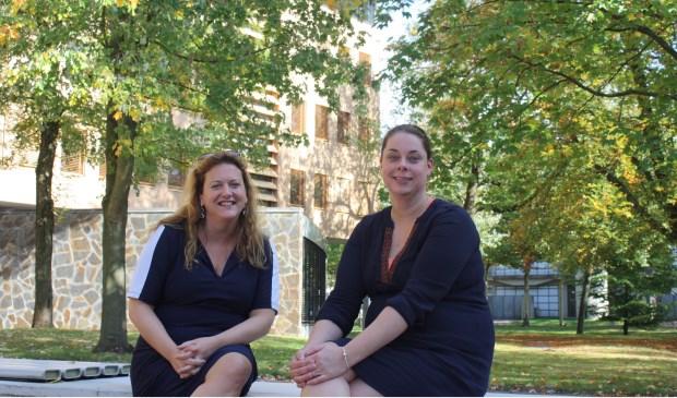 Monique van Elst (l) en Carlijn Klein Bronsvoort doen Duurzaam bij het RIVM.
