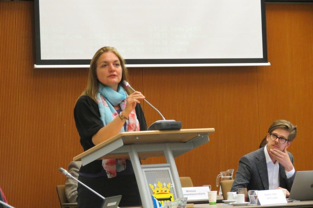 Connie Brouwer is tegen het voorstel.  © De Vierklank