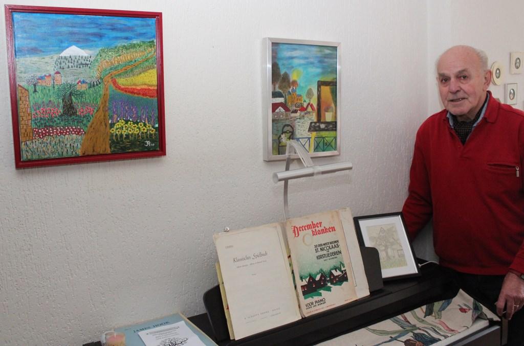 Jaap van Rossum maakt vooral kleine doeken.