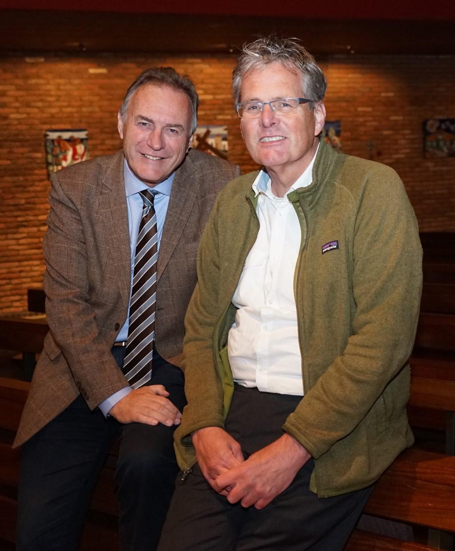 De interviewers Leo Fijen en René Alkema. (foto Jan de Groot)  © De Vierklank