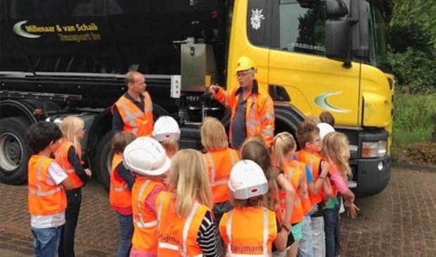 Voorafgaand aan de werkzaamheden kregen de kinderen van basisschool de Nijepoort op een interactieve manier informatie over de werkzaamheden aan de A27 en het viaduct vlakbij de school.