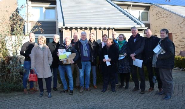 De excursiegroep voor een duurzaam gerenoveerde huurwoning in Montfoort.