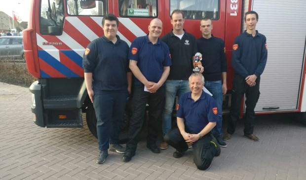 Het Groenekanse brandweerteam is trots op de prestatie in Benschop. (OV).
