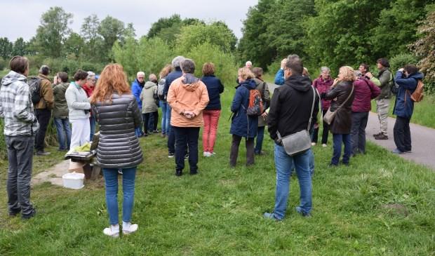 160 belangstellenden bij het gebied rond de Hooge Kampse Plas.  © De Vierklank