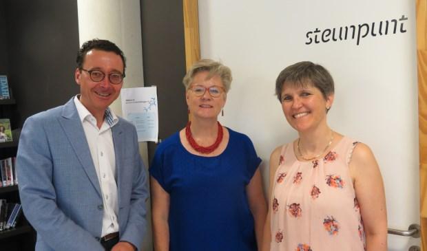 V.l.n.r. Maarten Koster, Hanneke Eilers en Marieke Spijkstra.