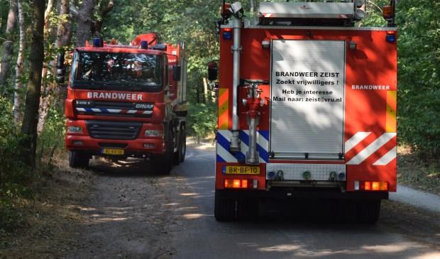 Brandweermannen uit Baarn, De Bilt, Soest en Zeist helpen elkaar met het bestrijden van bosbranden.  © De Vierklank
