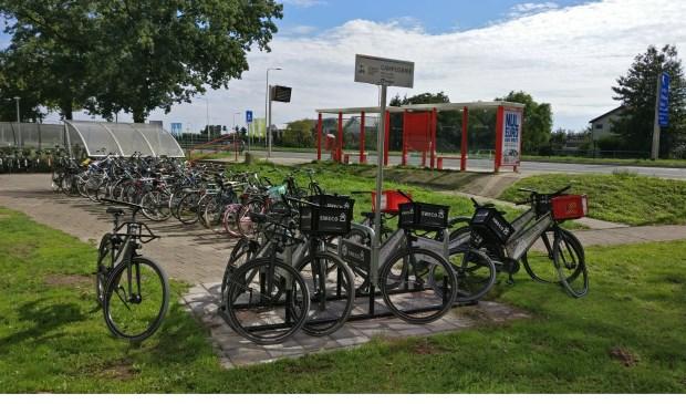 De fietsen van Campus bike staan in De Bilt o.a. in de tuin van Biltsteyn.   © De Vierklank