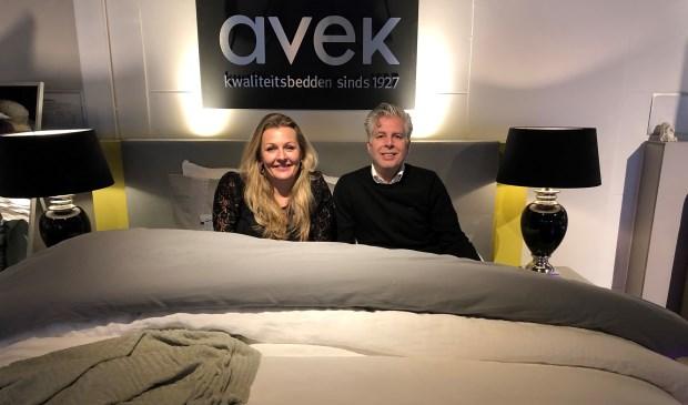 Voor de presentatie van boxsprings van Friese makelij hebben Geert en Rilana een aparte showroom ingericht.