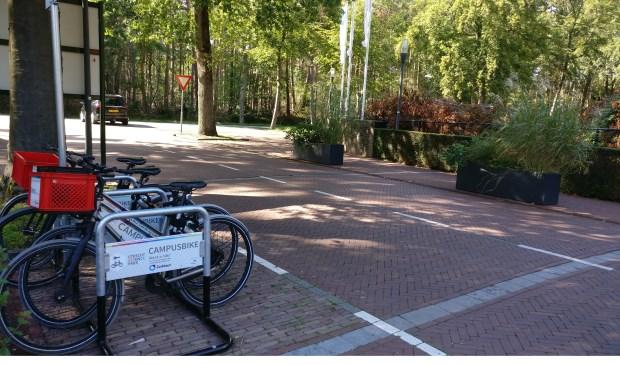 Naast een uitgiftepunt op de locatie Sweco zijn er ook uitgiftepunten bij het Science Park Bilthoven en het Berg en Bosch-terrein (foto). [foto Henk van de Bunt]