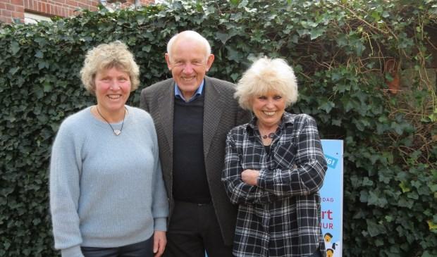 V.l.n.r. Ankie de Niet, Jan Sondervan en Anneke Iseger.