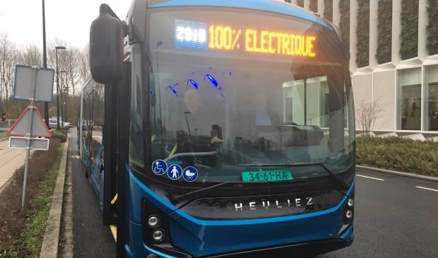 Vanaf 2020 rijdt De Heuliez elektrische bus ook in De Bilt. (foto Rick Huisinga)