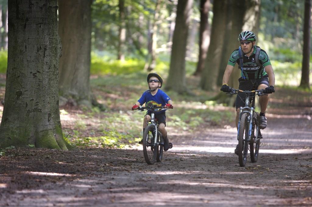 Recreatie Midden-Nederland verzorgt het onderhoud van o.a. bijna 90 km fietspad van recreatieschap Heuvelrug. Foto: Willem Mes © De Vierklank