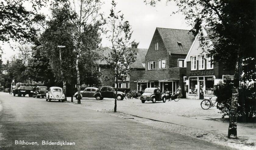 Het kleine dorp aan de Bilderdijklaan in 1959. (foto Hist. Kring 'dOudeSchool).