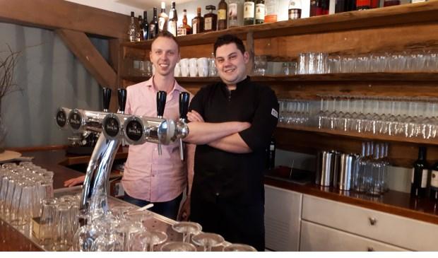 (Links) Stefan Breijer en Jeffrey Koopmans gaan samen met Wilma van Ingen vanaf 1 mei Restaurant Floyds runnen.  © De Vierklank