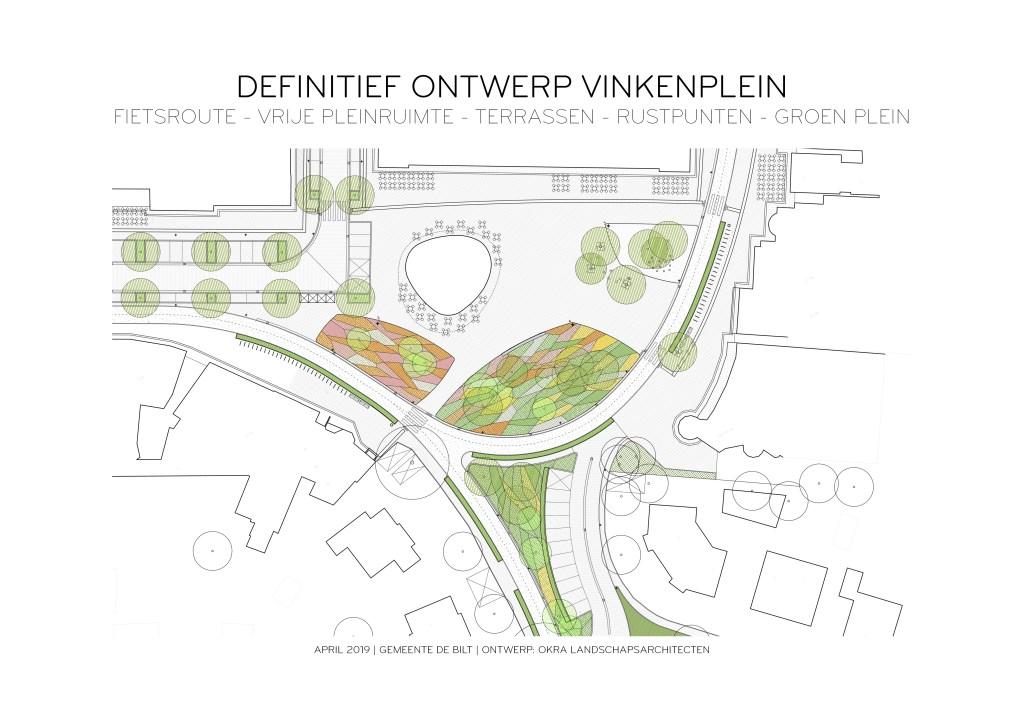 Definitef ontwerp Vinkenplein. (foto OKRA-Landschapsarchitecten)  © De Vierklank
