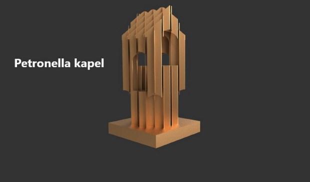 Het prijswinnende ontwerp van de Petronellakapel nieuwe stijl.  © De Vierklank