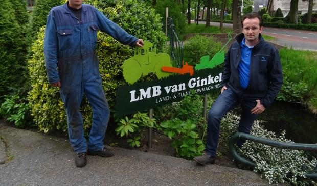 Jeroen Nieuwenhuize(l) en Maarten Klein(r): wij gaan het assortiment tuingereedschap uitbreiden om ook de mensen in Maartensdijk en omgeving goed te kunnen bedienen.